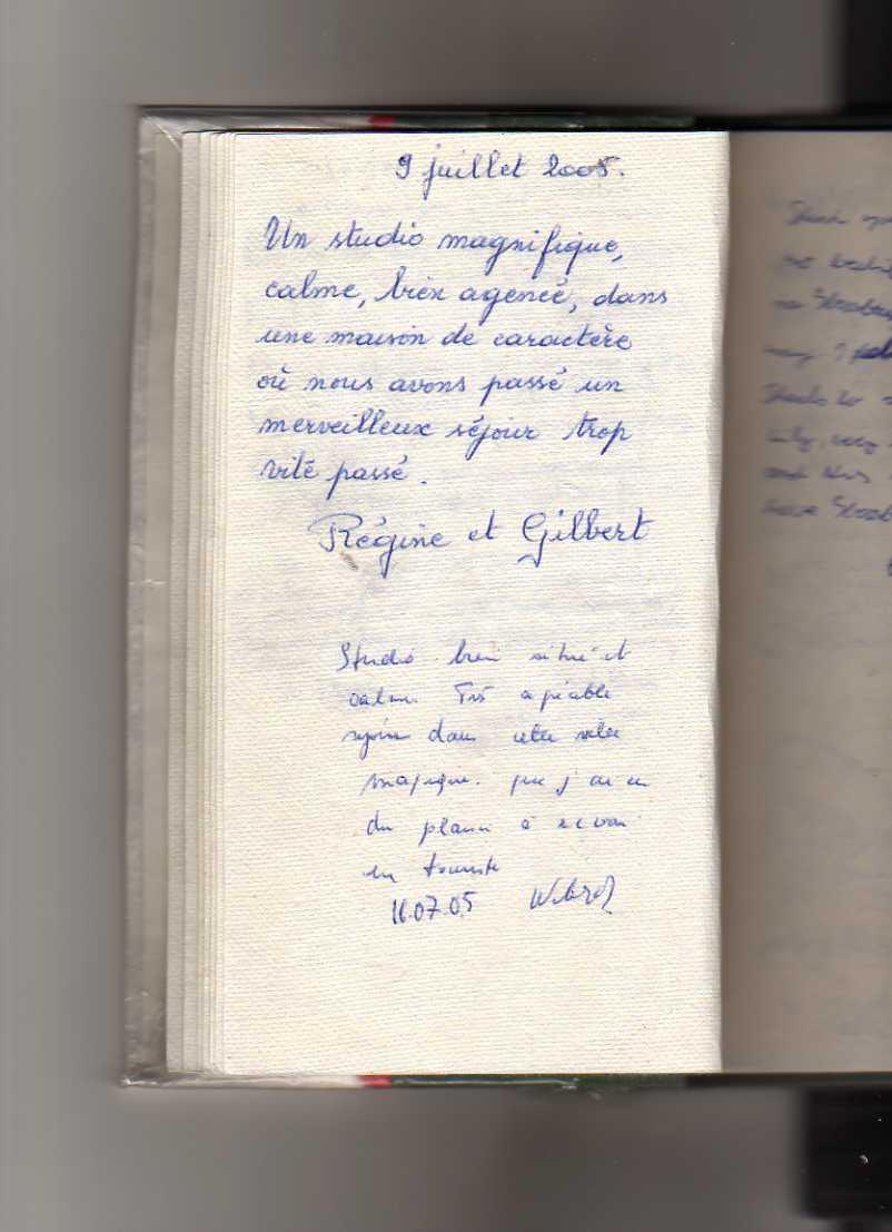 livre d'or gite de standing strasbourg (Regine et gilbert)